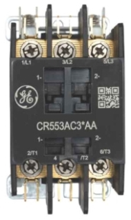 GE Industrial Solutions CR553AC2BAA 2-Pole 208 to 240 Volt 30 Amp Standard Full Voltage Definite Purpose Contactor