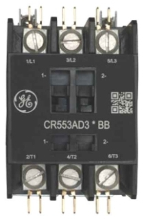 GE Industrial Solutions CR553AD4AAA 4-Pole 110 to 120 Volt 40 Amp Standard Full Voltage Definite Purpose Contactor