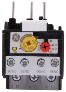 GE Industrial Solutions RT1L 3-Pole 690 Volt 4 to 6.3 Amp Class 10A Screw Terminal Contactor Thermal Overload Relay