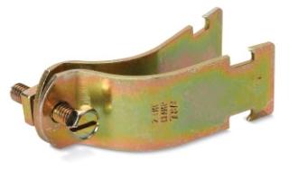 Kindorf C-105-2-1/2-HD 2-1/2 Inch Hot Dip Galvanized Steel Channel Mount 2-Piece Conduit Pipe Strap
