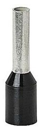 Thomas & Betts F2031 16 AWG 0.571 Inch Black Electrotinned Copper Nylon Insulated Ferrule