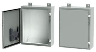 Hoffman A242012LP 24 x 20 x 12 Inch White/Gray 14 Gauge Steel NEMA 12 Wall Mount Enclosure