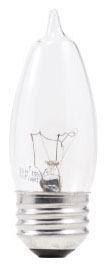 Sylvania 13321 120 Volt 40 W 100 CRI 320 lm Clear E26 Medium Base B10 Bent Tip Incandescent Lamp