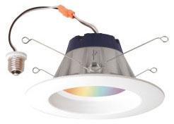 Sylvania 73741 120 Volt 13.5 W 80 CRI 1900 to 6500 K 820 lm LED Recessed Downlight Kit