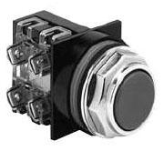 GE Industrial Solutions CR104PBG00B1 Black Flat Momentary Push Button Operator