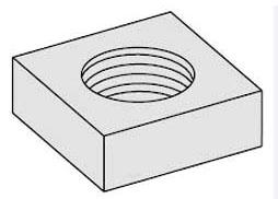 B-Line Series NUT,SQ 5/16 ZN Zinc Plated Machine Square Nut