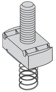 B-Line Series SN225-1ZN Stud Nut with Spring