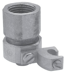 Crouse-Hinds Series LTR75G 3/4 Inch Malleable Iron Liquidtight to Threaded Rigid/IMC Combination Coupling