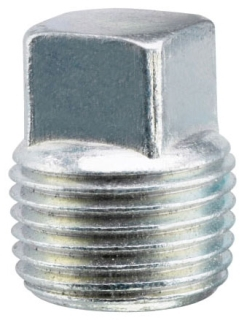 Crouse-Hinds Series PLG95 3-1/2 Inch Gray Iron Alloy Square Head Conduit Plug