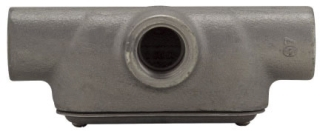 Crouse-Hinds Series T47 CG 1-1/4 Inch Cast Iron Form7 Type T Pre-Assembled Conduit Body and Cover with Gasket