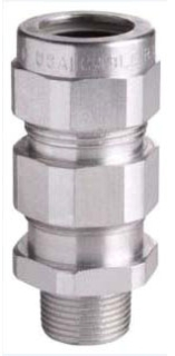 Crouse-Hinds Series TMC9352 3-1/2 Inch 2.95 to 3.52 Inch Aluminum Armored Cable Gland