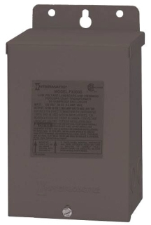 Intermatic PX300S 120 VAC 3 Amp Primary 14 VAC Secondary 300 W Safety Transformer with Stainless Steel Enclosure