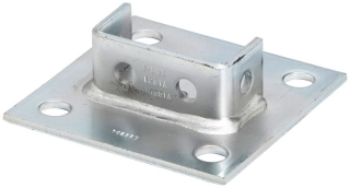 B-Line Series B281ASQSS4 6 x 6 x 1-5/8 Inch 304 Stainless Steel Channel Post Base
