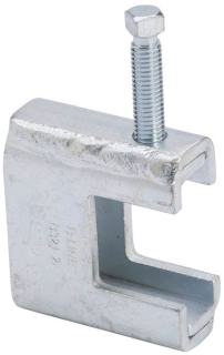 B-Line Series B321-1ZN 1/2-13 Inch Rod 1-11/16 Inch Flange 1/2-13 Inch Set Screw Zinc Plated Beam Clamp