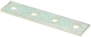 B-Line Series B341ZN 4-Hole Zinc Plated Splice Plate