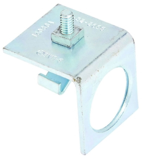 B-Line Series B392-22-1/2ZN 1-5/8 x 1-5/8 Inch Channel 1/2 Inch Conduit Connection End Cap