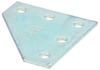 B-Line Series B556ZN 5-Hole Zinc Plated Corner Gusset Plate