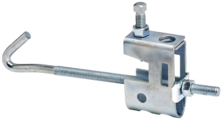 B-Line Series B751-J4-3/8ZN 3 to 6 Inch Flange Width Zinc Plated Beam Clamp Assembly