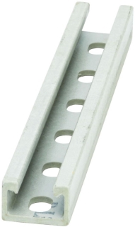 B-Line Series Bfp42Sh-120 120 x 1 x 1-5/8 Inch Gray Polyester Resin Slot Fiberglass Slotted Channel
