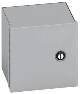 B-Line Series 1084-1 8 x 4 x 10 Inch 16 Gauge Gray Steel NEMA 1 Small Panel Enclosure