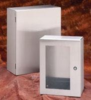 B-Line Series 16128-SDSS4 Type 4X Stainless Steel Single Solid Door Enclosure