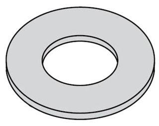 B-Line Series 5/8FWZN 5/8 Inch Zinc Plated Flat Washer