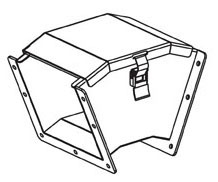 B-Line Series 66-12LE45C 6 x 6 Inch NEMA 12 45 Degrees Outside Opening Lay-In Wireway Elbow