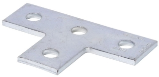 B-Line Series B133ZN Zinc Plated 4-Hole Tee Plate