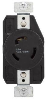 EWD AHL1130R Recp Single 30A 250V 3