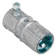 Bridgeport 280SP Zinc Die-Cast Snap-In AC/MC Combination Coupling to 1/2 Inch EMT Conduit