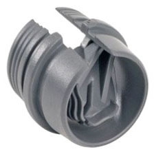 Bridgeport 616-NMD 1/2 Inch PVC Snap-In NM Cable Duplex Connector
