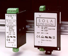 SolaHD SCP30D15-DN 15 VDC Output 30 W Din Rail Encapsulated Switch Power Supply