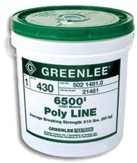 Greenlee 37959 2200 Foot 500 lb Red Tracer Polyfiber Fishing System Poly Line