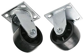 Greenlee 696 4 Inch Polyolefin Injected Molded Hard Caster Set