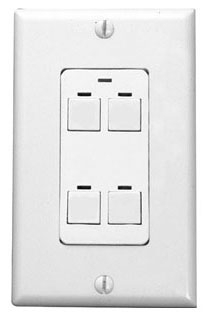 Lighting Control & Design CH2 BWH PWH 2-Button White Button and Plate Digital Switch