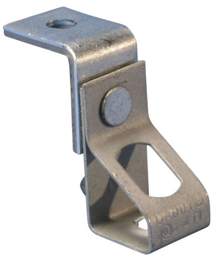 Caddy 4TIB 1/4 Inch Pre-Galvanized Steel Threaded Rod Hanger with Angle Bracket