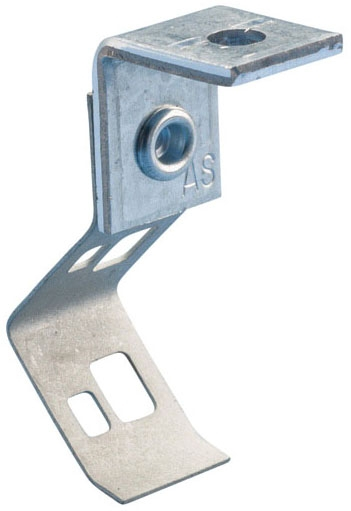 Caddy 708AB 1/4 Inch Pre-Galvanized Steel Rod/Wire Hanger with Angle Bracket