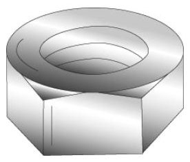 Minerallac 40125-6 1/4-20 Inch Zinc Plated Steel Hex Nut