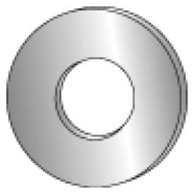 Minerallac 40350 Zinc Plated 3/4 Inch Flat Cut Washer