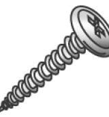 Minerallac 14817J #8 x 1 Inch Zinc Plated Steel Phillips Drive Sharp Point Wafer Head Piercing Stud Screw