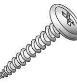 Minerallac 14821J #8 x 1-1/4 Inch Wafer Head Sharp Point Lath Sheet Metal Screw