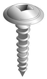 Minerallac 15012-6 #10 x 3/4 Inch Zinc Plated Steel Square Drive Round Washer Head Sheet Metal Screw
