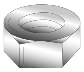 Minerallac 40250 3/4-10 Inch Grade 5 Stainless Steel Hex Nut