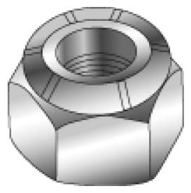 Minerallac 40440 1/2-13 Inch Zinc Plated Steel Nylock Hex Nut