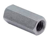 Minerallac 59606J 3/8-16 x 1-1/8 Inch Zinc Plated Steel Rod Coupling