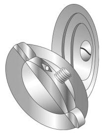 Minerallac 90054 1 Inch 3-Piece Zinc Plated Steel Knockout Seal