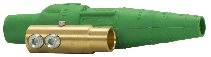 Crouse-Hinds Series E1016-8391 600 VAC/VDC 2/0 to 4/0 AWG Green Elastomeric Non-Vulcanized Double Set Screw Female Plug