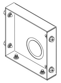 B-Line Series 88 HSENK Hinge Screw Cover Wireway End without Knockout