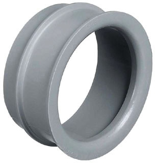 CL E997L-CAR END BELL 3 IN GRAY PVC