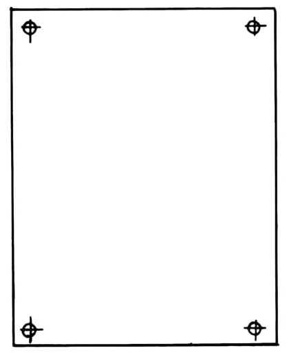 Carlon JP1412 1275 x 1087 Inch 14 Gauge White Back Panel